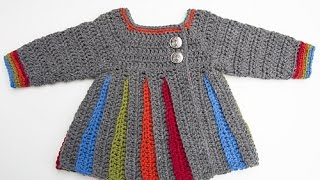 How To Crochet: Eloise Baby Sweater