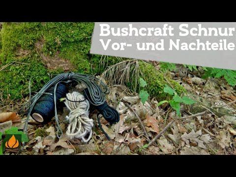Paracord, Juteschnur, Bankline oder Dyneema? - Bushcraft Schnur Vor- und Nachteile