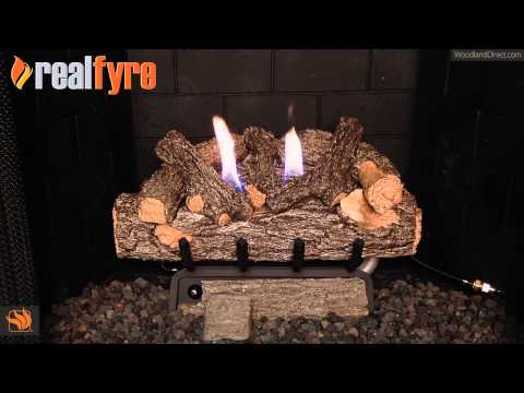 Valley Oak Ventless Refractory Ceramic Gas Log Set