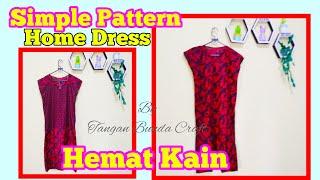 Cara Membuat Daster Simple || Hemat Bahan || Home Dress Tutorials || #homedressdiy #tutorialdaster