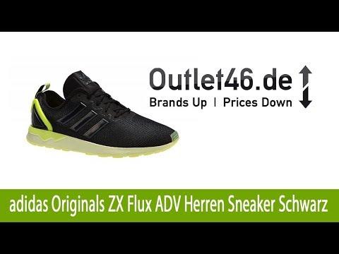 Angesagter adidas Originals ZX Flux ADV Herren Sneaker Schwarz günstig online kaufen | Outlet46.de