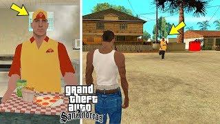 Куда бежит продавец Пиццы в начале игры GTA San Andreas?