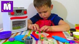 Готовим блинчики с начинкой и играем с детской плитой