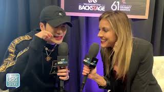 Jackson Wang Talks To Kristin Klingshirn at The GRAMMYs Radio Row