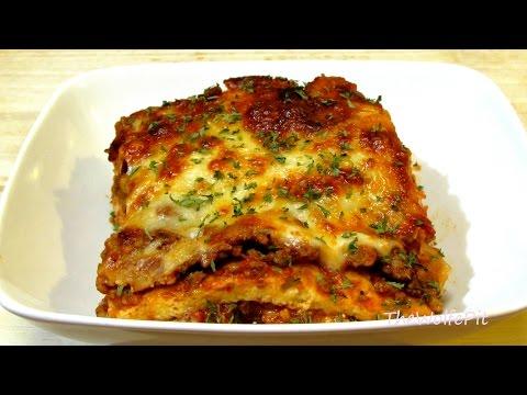 Video Lasagna Recipe - (Low Carb Recipe) - Noodleless Lasagna