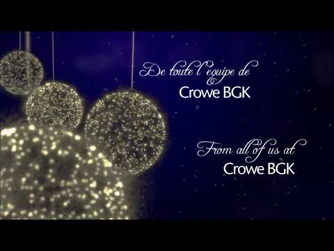 Crowe BGK – Holidays 2017