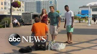 Teens Harrass And Humiliate the Homeless | What Would You Do? | WWYD