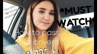 Tips On How To Pass Your Drivers Test! *MUST WATCH* Watch This BEFORE You Take Your Test