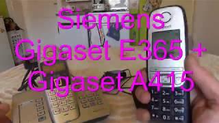 Funktionsprüfung  Telefone Siemens Gigaset E365 + Gigaset A415