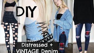 DIY Distressed Vintage Denim