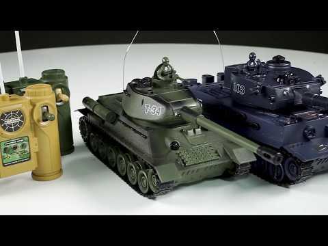 Танковый бой радиоуправляемый 99824 (T34 vs TIGER) +акб