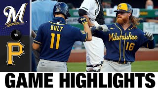 Brandon Woodruff Leads Brewers To 3-0 Win   Brewers-Pirates Game Highlights 7/29/20