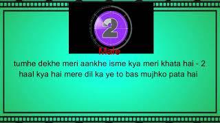 Tumhe Dekhe Meri Aankhen Karaoke With lyrics   - YouTube