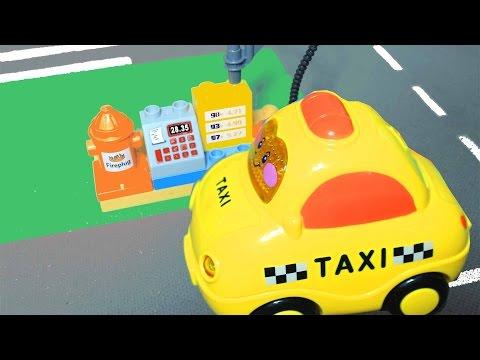 Игры с машинками. Такси, автобус