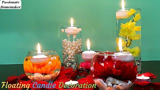 Floating Candles Decoration For Diwali-Water Candles-Diwali Decoration Ideas-DIY Vase Centerpieces