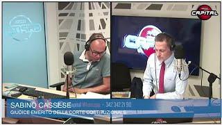 """Sabino Cassese a Circo Massimo: """"Attacco al Quirinale di Grillo gratuito, sparata per gli ascolti"""""""