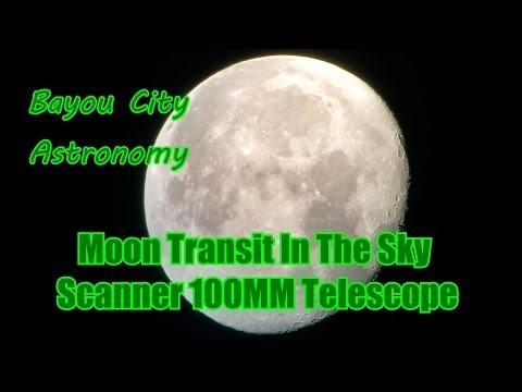 Moon Transit In Orion SkyScanner 100mm Reflector Telescope