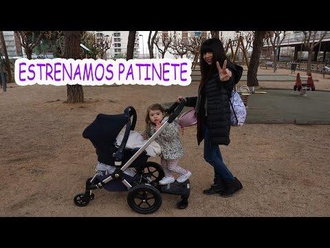 ESTRENAMOS PATINETE PARA EL CARRO Y IRINA SE QUEDA DORMIDA ENCIMA!!!!!