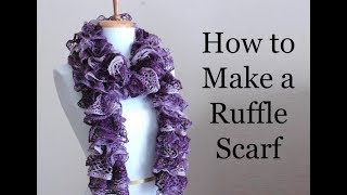 How To Make A Ruffle Scarf