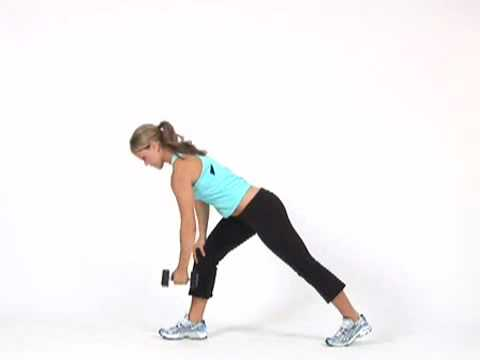 Dumbbell Bent Over Row to Tricep Kickback