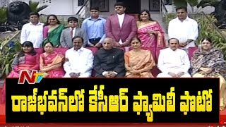 CM KCR and Muhammad Ali Family Takes a Group Photo With Governor Family | NTV