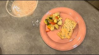 Chop and Shake Ep.1 Dill Butter Salmon and Roasted Vegetables