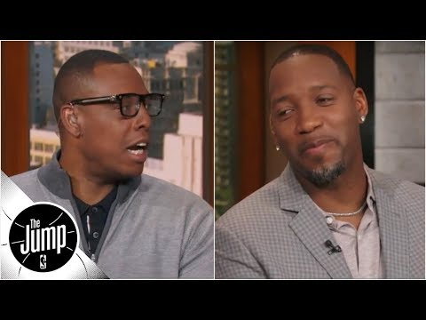 cb38569bafac Paul Pierce reacts to Tracy McGrady s Celtics NBA title prediction