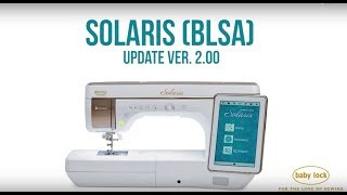 Baby Lock Solaris Top Of The Line Sewing, Embroidery