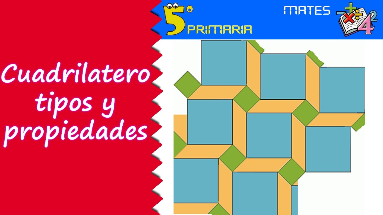 Cuadriláteros: propiedades y tipos. Mate, 5º Primaria. Tema 8
