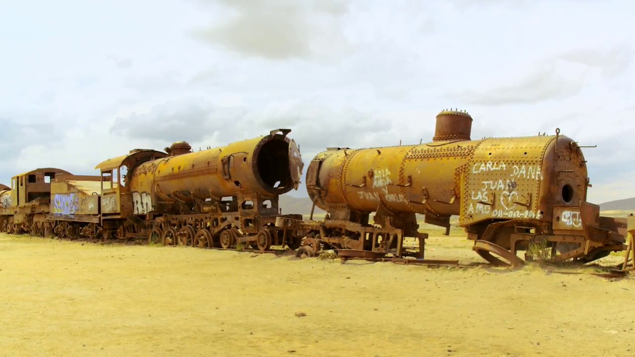 Bolivien: Potosi Eisenbahnfriedhof (0:54)