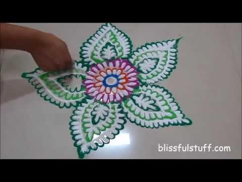 quick and easy rangoli design by poonam borkar
