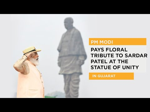PM Modi pays floral tribute to Sardar Patel at the Statue of Unity in Gujarat
