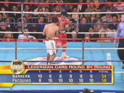 Barrera v Pacquiao I Highlights w/commentary HQ