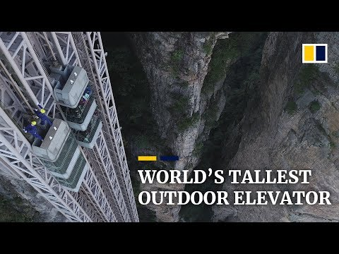 China is Home to the Tallest Outdoor Elevator in the World
