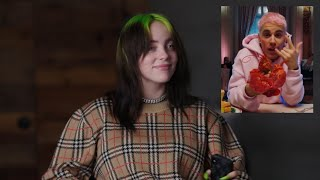 billie eilish reacting to justin bieber's yummy music video