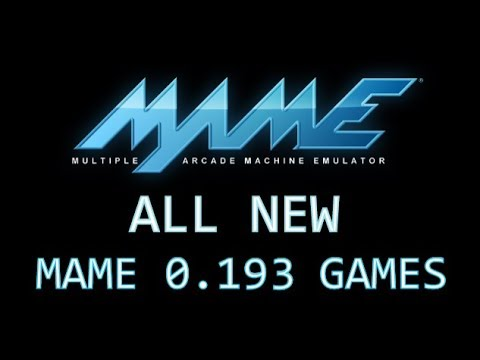 All new MAME 0,193 games