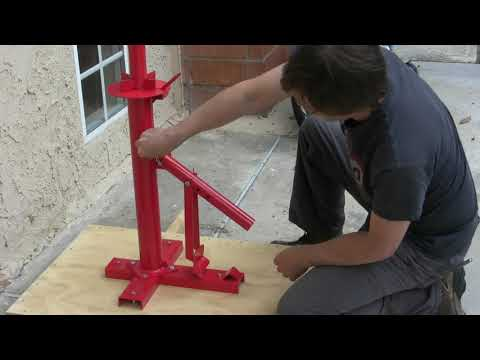 Harbor Freight Motorcycle Tire Changing Attachment Review and Assemble