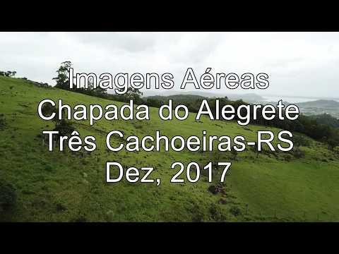 Três Cachoeiras/RS, Chapada ou Morro do Alegrete, 1080p, Drone