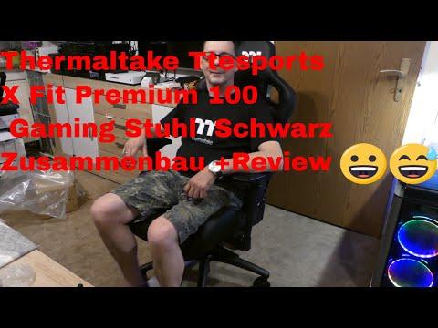 Thermaltake Ttesports X Fit Premium 100 Gaming Stuhl   Schwarz Zusammenbau +Review