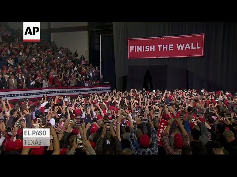 President Donald Trump is boasting about the size of the crowd attending his rally in El Paso, Texas, versus that for former Democratic Rep. Beto O'Rourke. (Feb. 11)