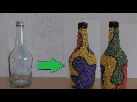 Decor of rice bottle / Декор бутылки рисом