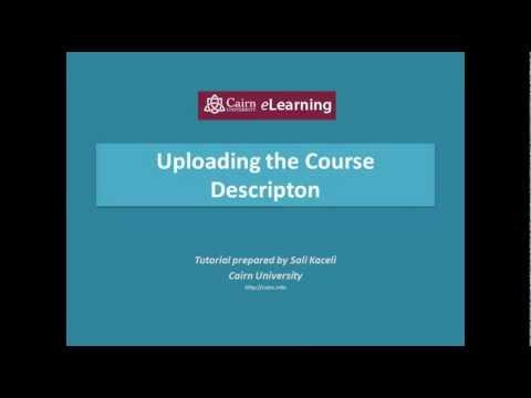 Adding a course description in Moodle 2.3 - YouTube