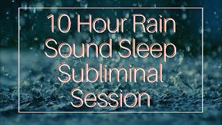 Say No To Junk Food Addiction - (10 Hour) Rain Sound - Sleep Subliminal - By Thomas Hall