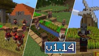 ВЫШЕЛ Minecraft 1.14-  ДЕРЕВНЯ И ГРАБИТЕЛИ , ЖДЕМ Minecraft Pe 1.8.0.14 ПОЛНЫЙ ОБЗОР