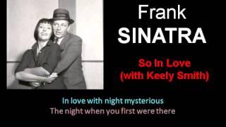 So In Love Frank Sinatra and Keely Smith Lyrics