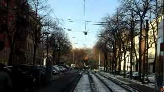 preview picture of video 'Mitfahrt Tram 5 Karlsruhe Rheinhafen - Rintheim Sicht nach hinten'