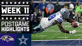 Ravens vs. Cowboys   NFL Week 11 Game Highlights