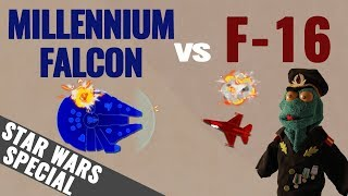 Millennium Falcon vs F-16 Fighting Falcon