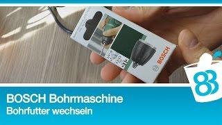 Bosch PSB 750 RCE Bohrfutter wechseln
