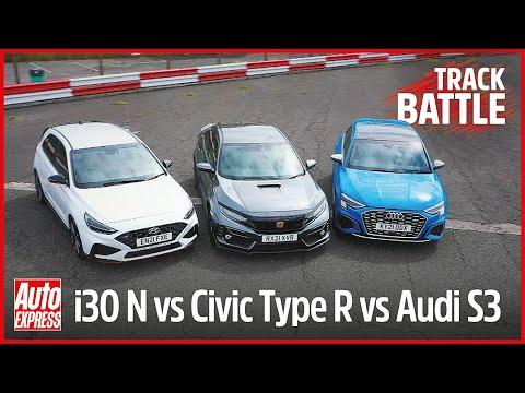 Honda Civic Type R vs Hyundai i30 N vs Audi S3: Steve Sutcliffe track battle   Auto Express